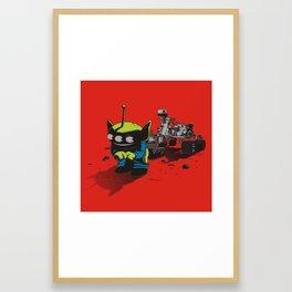FIRST IMAGE OF MARS Framed Art Print
