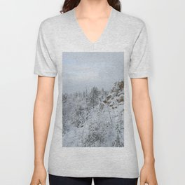 Winter Mountain Unisex V-Neck
