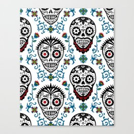 Sugar Skull Voodoo  Canvas Print
