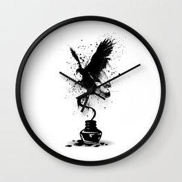 Ink Eagle Wall Clock