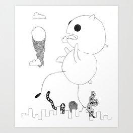 Brocian Melt Art Print
