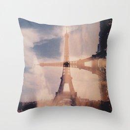 Dueling Eiffel Towers V2 // Paris Throw Pillow