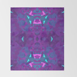 Pink, Purple, and Blue Triangles 2 Throw Blanket