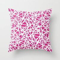 Ab Upside Down Pink Throw Pillow