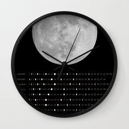 2017 Calendar - Lunar Wall Clock