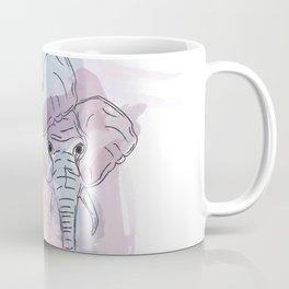 Elephant Animal Water Color Painting Coffee Mug