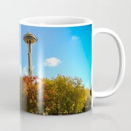 Space Needle with autumn hues Coffee Mug