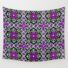 talavera in purple Wall Tapestry