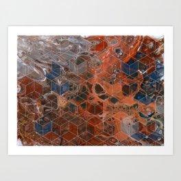 Earth Cubed Art Print