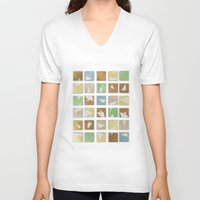 plane V-neck T-shirts featuring Hidden Plane by mewdew