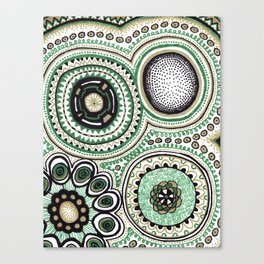 Green and Gold Rings Canvas Print