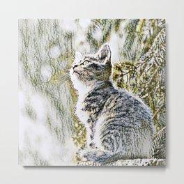 Animal ArtStudio 219 Cat Metal Print