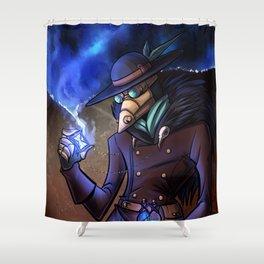 Steampunk Time Traveller Shower Curtain