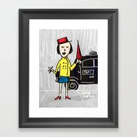 Umbrella Girl Framed Art Print
