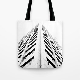 Keep Your Aim High (White Symmetry) Tote Bag