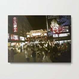 Entrance to the Night Market Metal Print