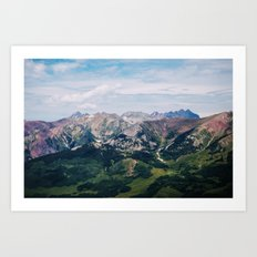 Going to the Mountains Art Print