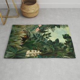 The Equatorial Jungle - Henri Rousseau Rug