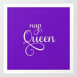 Nap Queen in Ultra Violet Art Print