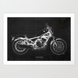 2019 Rebel 500 grey Art Print