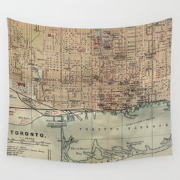 Vintage Map of Toronto (1894) Wall Tapestry