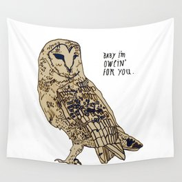Owlin for you Wall Tapestry