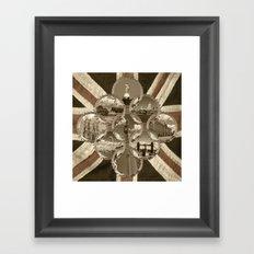 Diamond City Sepia Framed Art Print