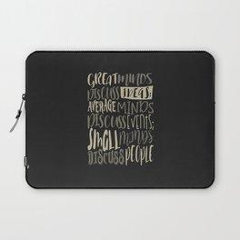 Great Minds Discuss Ideas - Motivation Laptop Sleeve