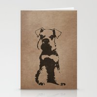 schnauzer Stationery Cards featuring Miniature Schnauzer by illustrious state