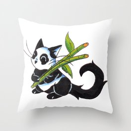 Panda Cat Throw Pillow