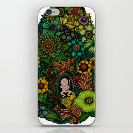 "Floral Uterus ""緑(ROKU)"" iPhone Skin"