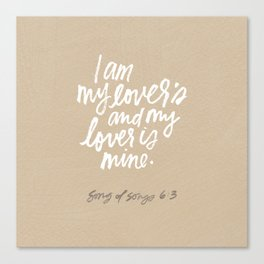 I am my lover's Canvas Print