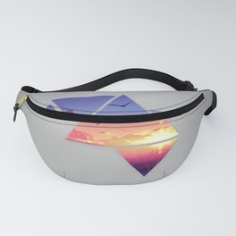 abstract graphic design polyscape  Fanny Pack