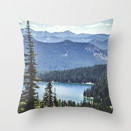 Dewey Lake, Washington Throw Pillow