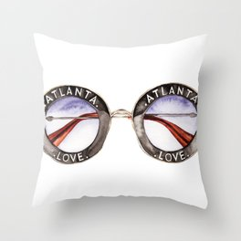 ATLANTA LOVE SUNNIES Throw Pillow