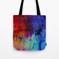 horses Tote Bags featuring Horses  by Latidra Washington