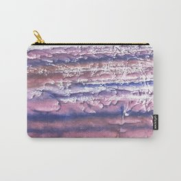 Rosy blue streaked watercolor painting Carry-All Pouch