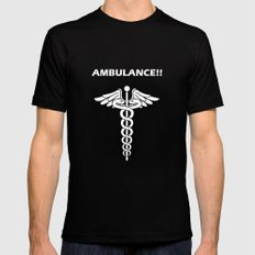 AMBULANCE!! Black SMALL Mens Fitted Tee