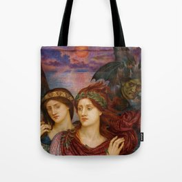 "Evelyn De Morgan ""The vision"" Tote Bag"