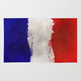 Watercolor flag of France Rug