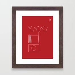 Voyager Golden Record Fig. 2 (Red) Framed Art Print