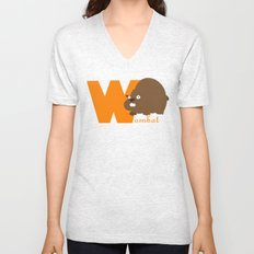 w for wombat Unisex V-Neck