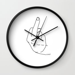 middle finger Wall Clock