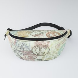 Passport Stamps Fanny Pack