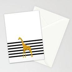 Gold Giraffe Stationery Cards