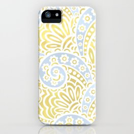 petal paisley in silver + gold iPhone Case