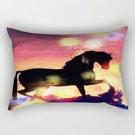 Sunset  Stallion Rectangular Pillow