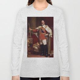 King Edward VII in coronation robes Long Sleeve T-shirt