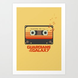 Awesome mix vol.1 Art Print