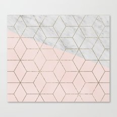 Florence dreams - marble geometric Canvas Print